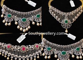 simple diamond necklace designs indian