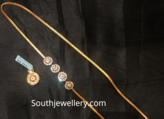 thali chain with diamond mugappu