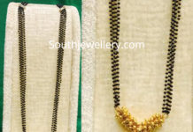 black beads long mangalsutra chain