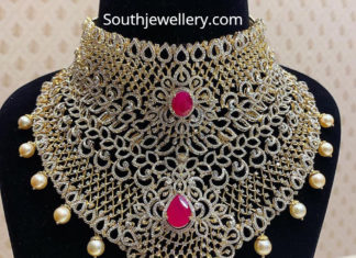 bridal diamond choker
