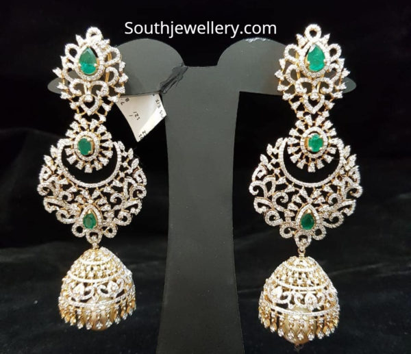 diamond jhumki earring designs