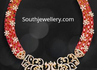 diamond ruby necklace mangatrai