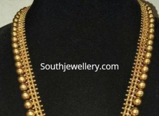 gold haram with diamond pendant