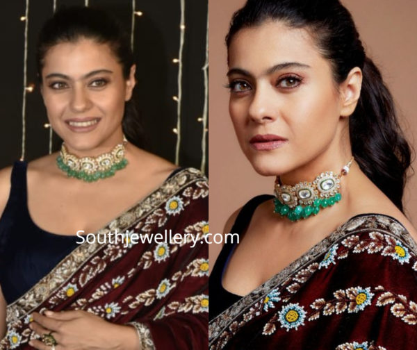 kajol in polki diamond choker