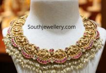 peacock nakshi necklace malabar gold and diamonds