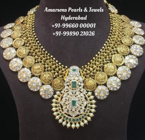 polki diamond necklace amarsons pearls