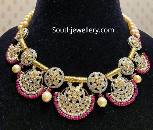 polki diamond necklace satyanarayan sons