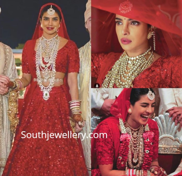 priyanka chopra wedding jewellery