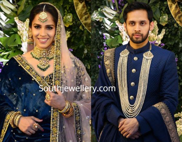 saina nehwal wedding reception jewellery