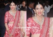 shloka mehta polki diamond jewellery at isha ambani wedding reception