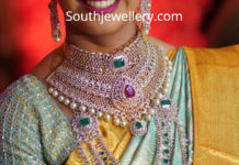 south indian bride diamond jewellery 2