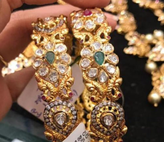 uncut diamond pacchi bangles