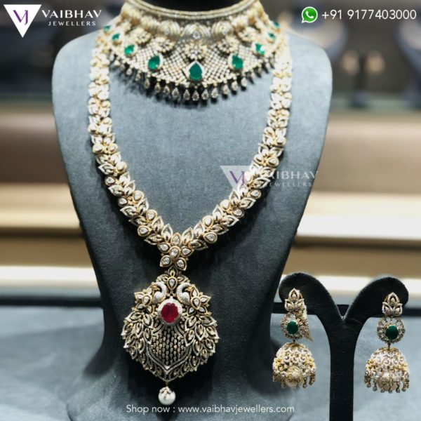diamond haram collection vaibhav jewellers
