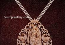 diamond radha krishna pendant