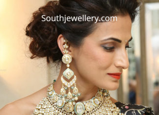 shilpa reddy heavy polki necklace