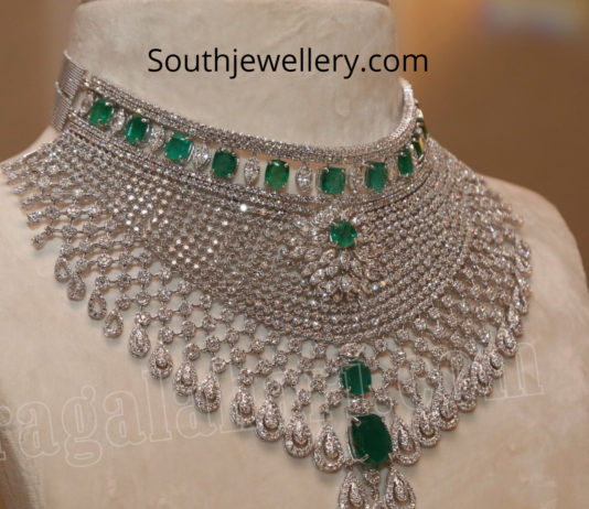 diamond emerald choker