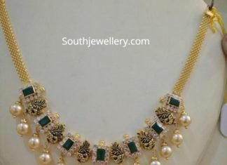 simple emerald cz necklace