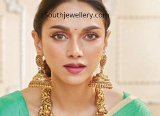 aditi rao hydari gold jewellery