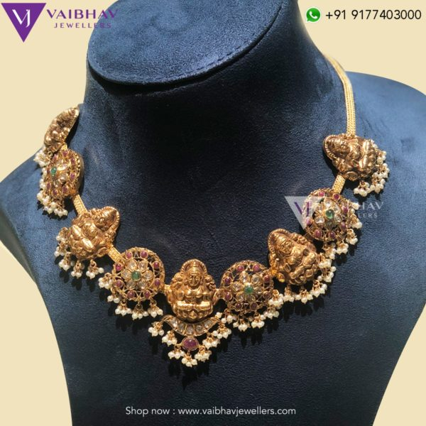 antique gold necklace designs