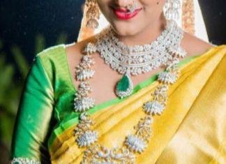 bride in lotus diamond haram