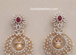 diamond chandbali jhumkas