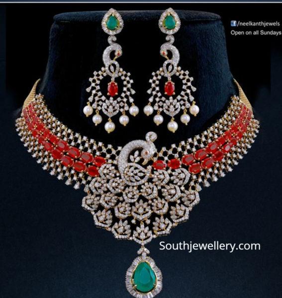 diamond ruby necklace neelkanth jewellers