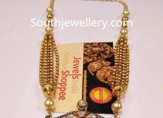 gold haram lakshmi pendant