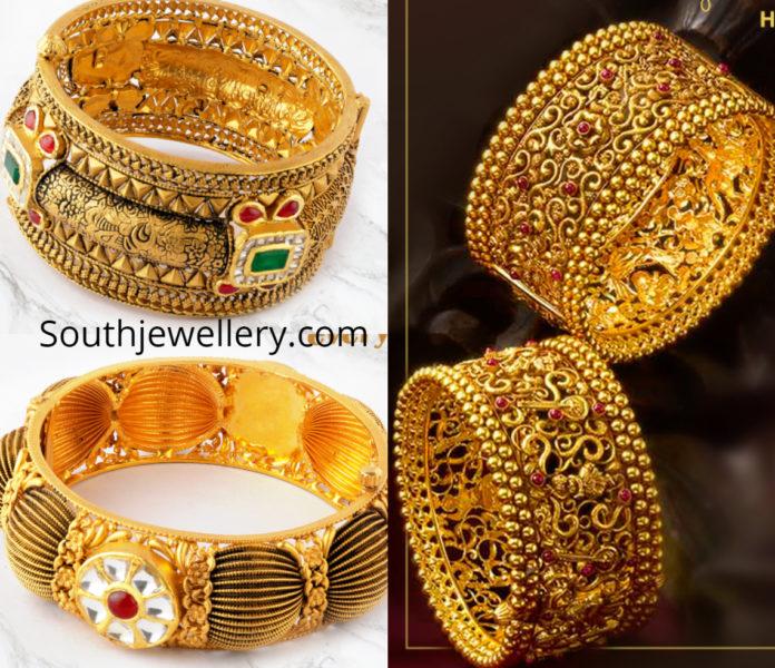 kalyan jewellers antique gold bangles