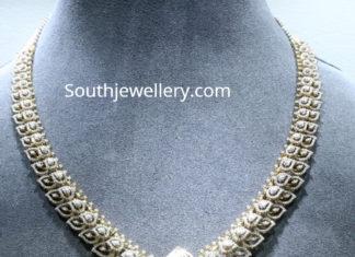 leaf design diamond necklace