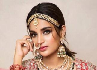 nidhhi agerwal in polki jewellery