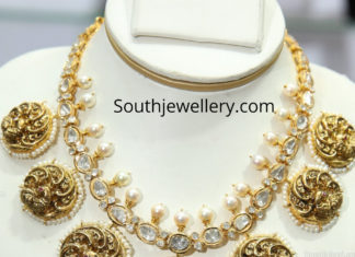 peacock gold nakshi necklace