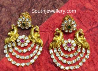 peacock polki diamond chandbalis anopchand jewelelrs