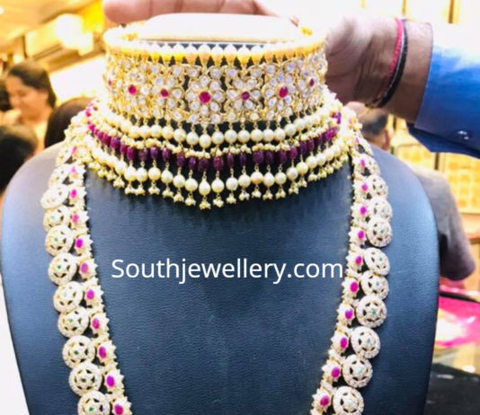 polki choker and bottu mala