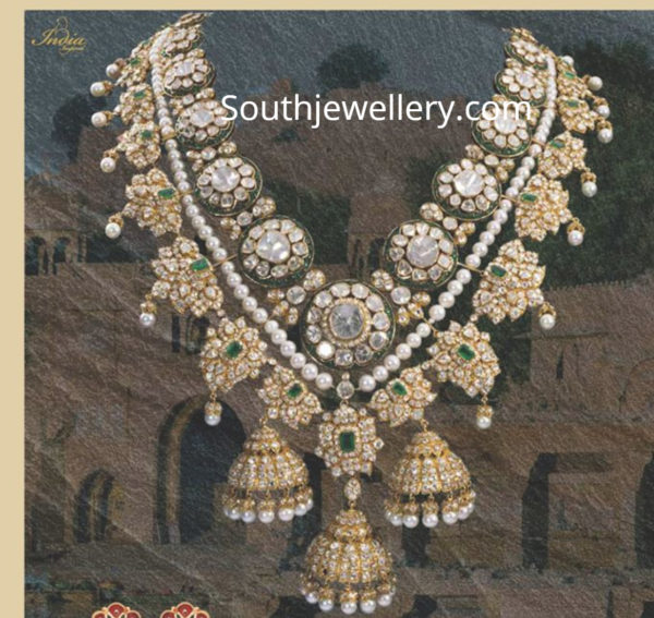 polki diamond necklace latest designs
