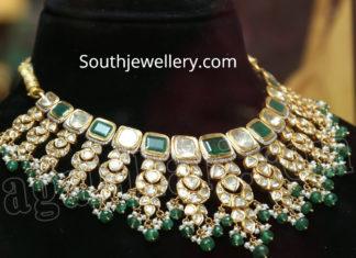 polki diamond necklace malabar gold