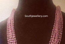 pink sapphires necklace