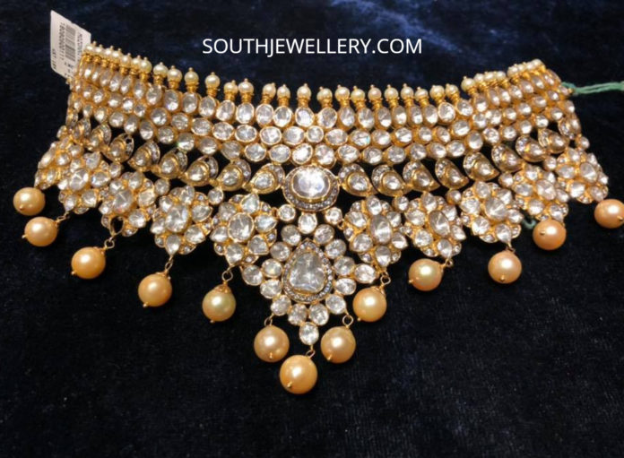 polki diamond choker