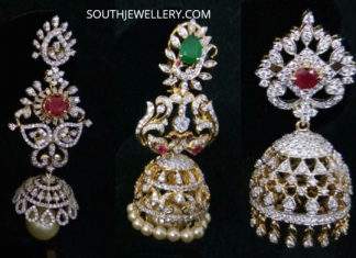DIAMOND JHUMKI DESIGNS