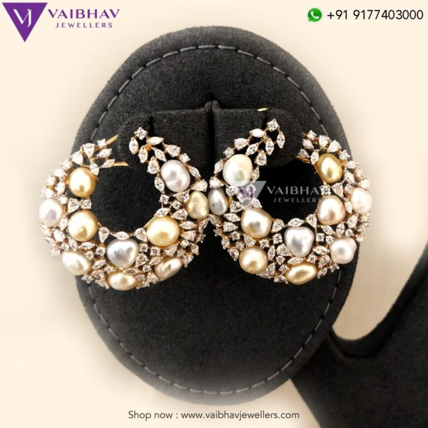 diamond earrings vaibhav jewellers