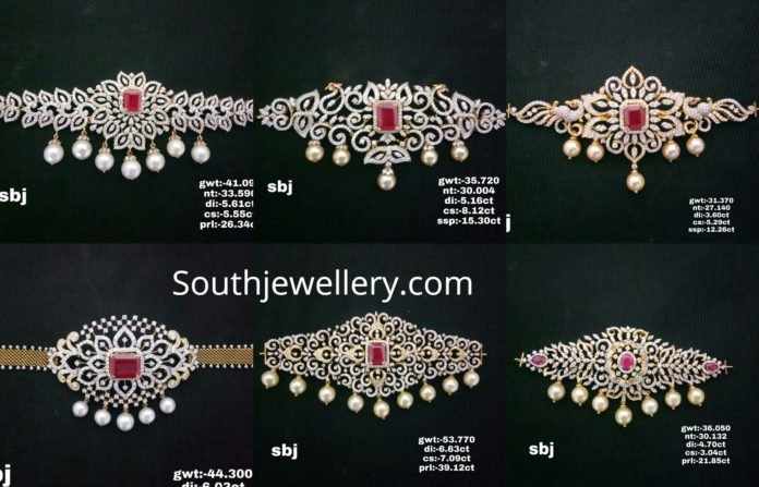 2 in 1 diamond choker plus vanki designs