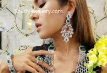 diamond emerald bridal layered haram