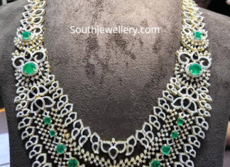 diamond emerald step necklace