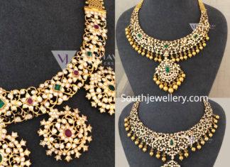 diamond haram designs vaibhav jewellers