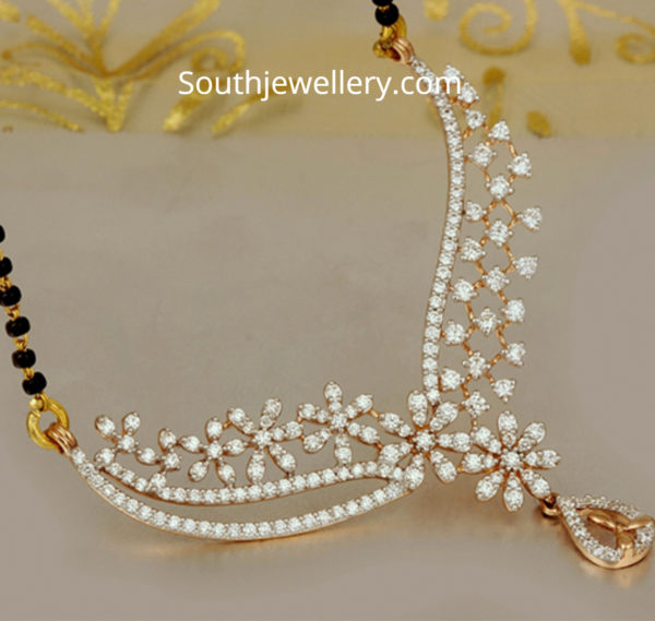 diamond mangalsutra chain