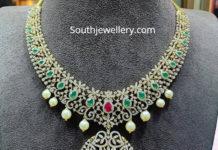 emerald diamond nekclace