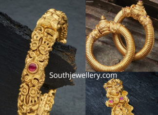 nakshi gold kada designs
