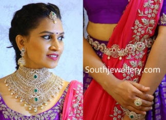 indian diamond jewellery for wedding