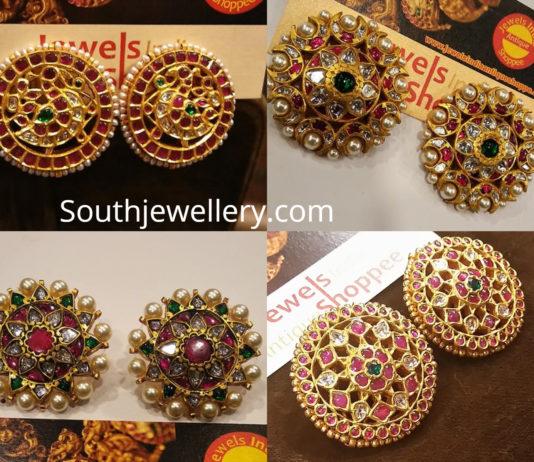 indian gold stud earrings