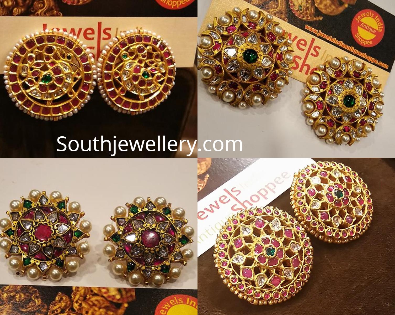 bb5342354 Antique Gold Stud Earrings - Jewellery Designs