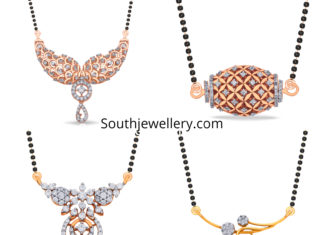 diamond pendants for black beads mangalsutra chains